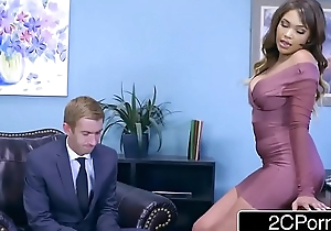 Cassidy Banks Gets Some Big Pallid Cock At Work