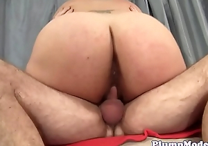 Busty plumper rimmed and pussyfucked