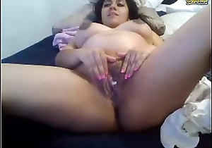 Hot latina pregnant cam girl