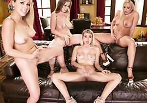 Sexy Babe Lena Paul - The Big ultra-wet lesbian orgy