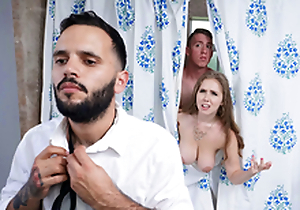Trimmed Housewife Blows Stepson - Lena Paul In be passed on porn scene