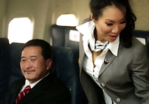 Kinky Flight Hostesses In Amazing Airplane Organize Fucky-fucky