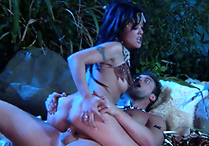 Kaylani Lei is SO Hot! Sexy Jungle Cavemen Fuck! She Widens Fruitful be proper of his Club!