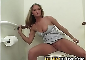 Teen Spring Thomas gets pounded at the end of one's tether black cocks
